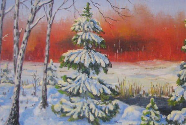Картина ранняя зима 2