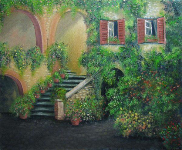 The cosy Italian backyard