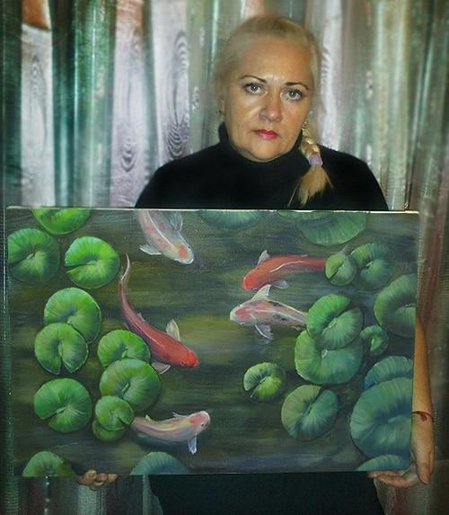 Картина «Рыбки Кои» для Жанны 3