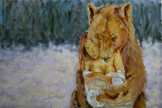 медведь поэтапно 3