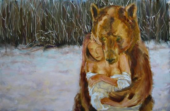 медведь поэтапно 5