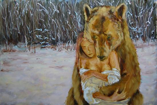 медведь поэтапно 6