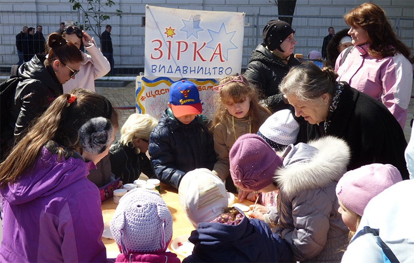 детский мастер классы на фестивале писанок