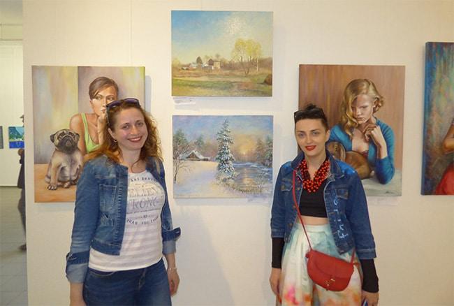 художники на выставке картин