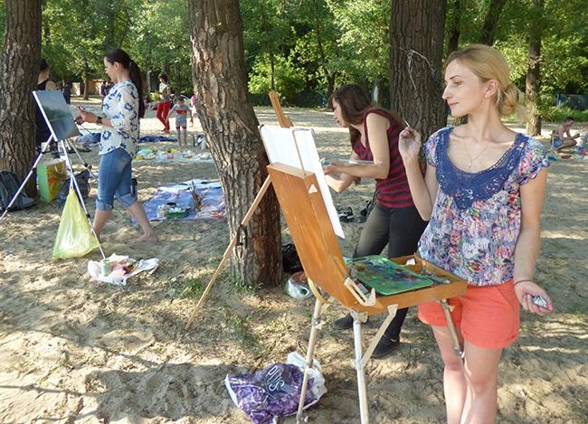 художники рисуют на трухановом