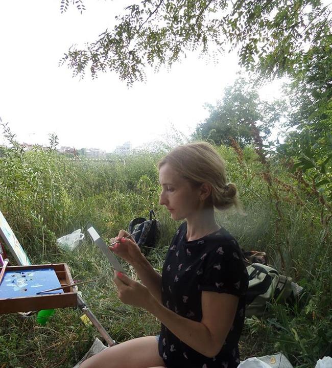 художница на замковой горе