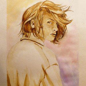 Картина из кофе Мария