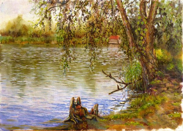 Этюд на берегу озера
