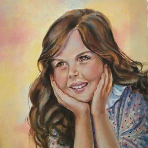 Детский портрет маслом