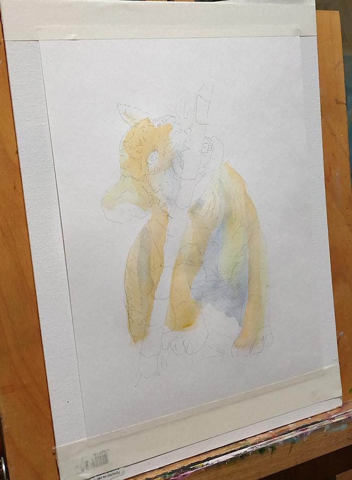 как почати малювати аквареллю початок