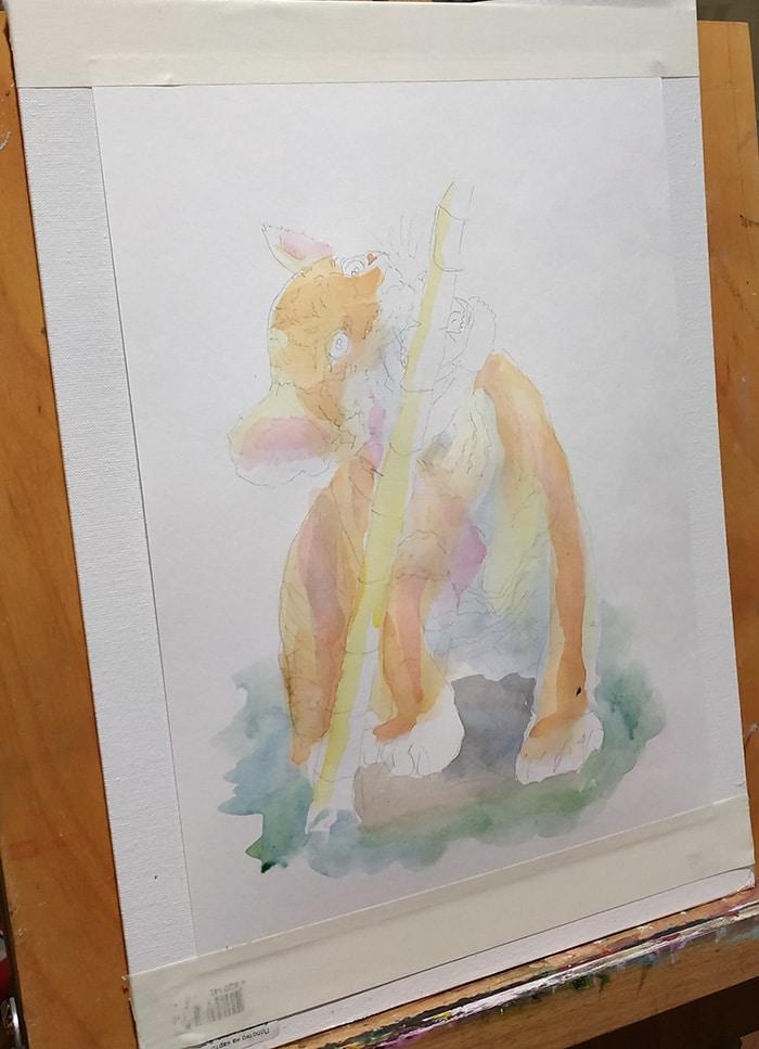 малювання аквареллю