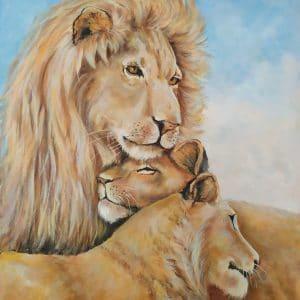 Картина маслом Львиный Прайд