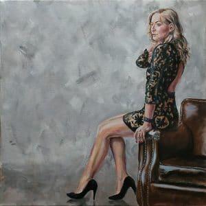 портрет акриловыми красками марина