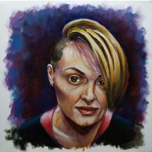 портрет девушки маслом Натали